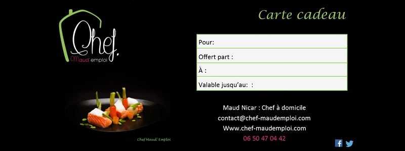 chef maud emploi. Black Bedroom Furniture Sets. Home Design Ideas